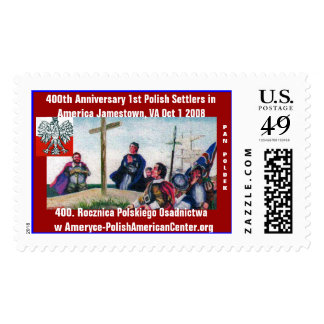 400th Anniversary Arrival of First Poles to Amer.. Postage