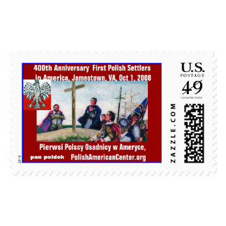 400th Anniversary Arrival of First Poles to Americ Stamp