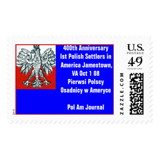 400th  Anniversary First Polish Settlers in Amera Postage