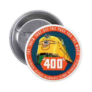 400Train Pinback Buttons