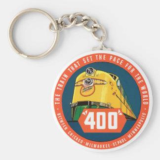 400Train Llavero Redondo Tipo Pin