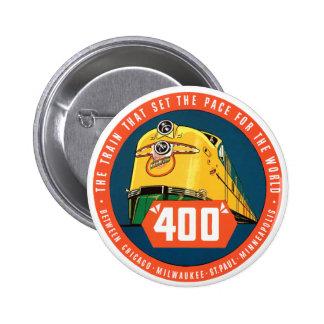 400Train Pin Redondo De 2 Pulgadas