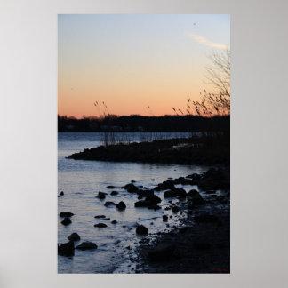 4017 Bay Sunset Poster