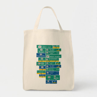 401 and DVP on a Grocery Bag