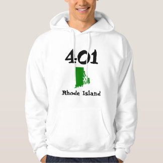 401, Area Code of Rhode Island Hooded Pullover