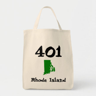 401, Area Code of Rhode Island Tote Bag