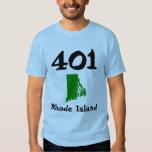 401, Area Code of Rhode Island Tshirt