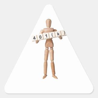 401(k) triangle sticker