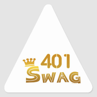 401 Rhode Island Swag Triangle Sticker