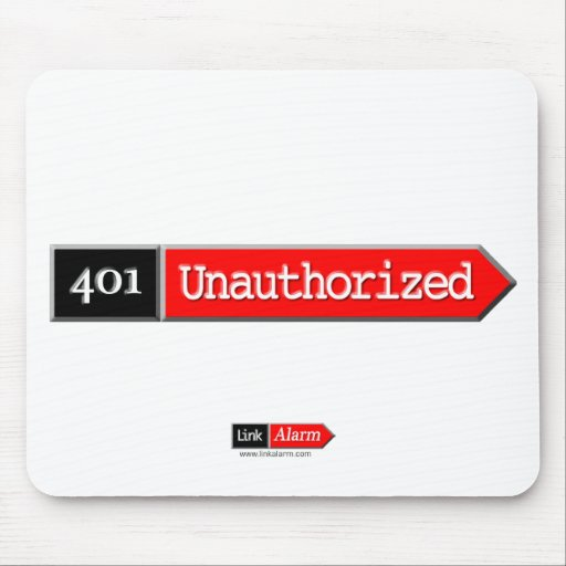 401 - Unauthorized Mouse Pad