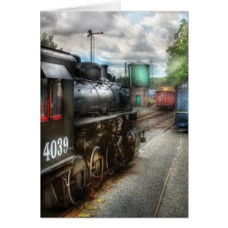 4039 - En la yarda del tren Felicitación