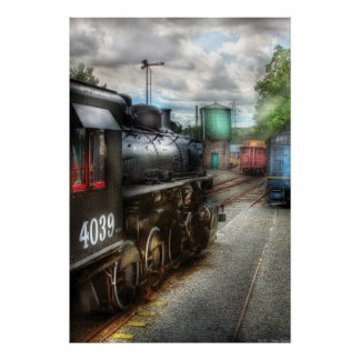 4039 - Train - 4039 - In the train yard Poster