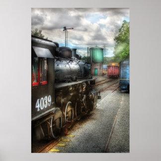 4039 - Tren - 4039 - en la yarda del tren Posters