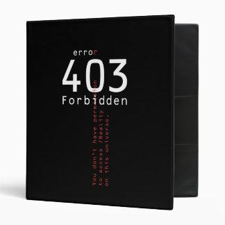 403 Forbidden Reality binder