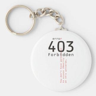 403 Forbidden Reality keychain