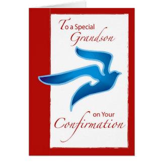 4046 Grandson Confirmation, Blue Dove Card
