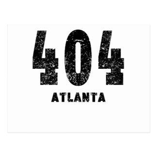 404 Atlanta apenada Postales
