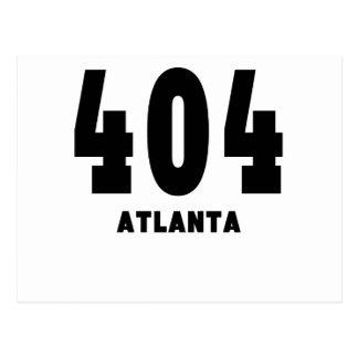 404 Atlanta Tarjeta Postal