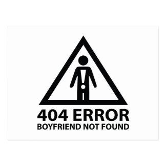 404 Error Boyfriend Not Found Postcard