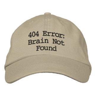 404 Error: Brain Not Found Embroidered Baseball Cap
