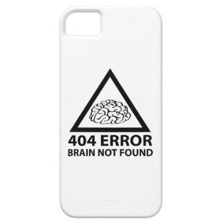 404 Error Brain Not Found iPhone SE/5/5s Case
