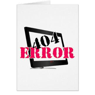 404 Error Card