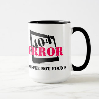404 Error: Coffee Not Found Mug