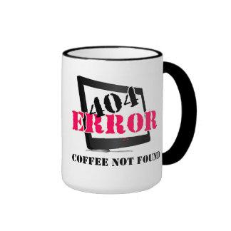 404 Error: Coffee Not Found Ringer Coffee Mug