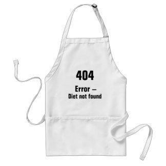 404 error - delantal no encontrado de la dieta