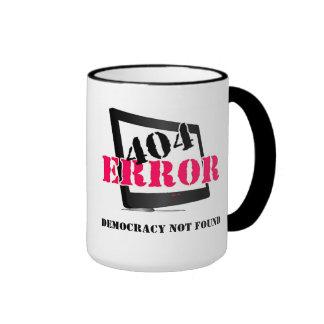 404 Error: Democracy Not Found Ringer Coffee Mug