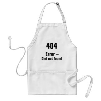 404 Error - Diet Not Found apron