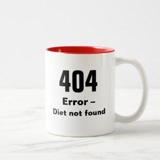 404 Error - Diet Not Found mug