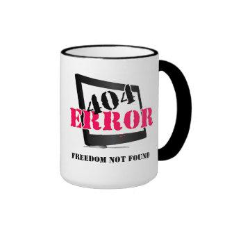 404 Error: Freedom Not Found Ringer Coffee Mug
