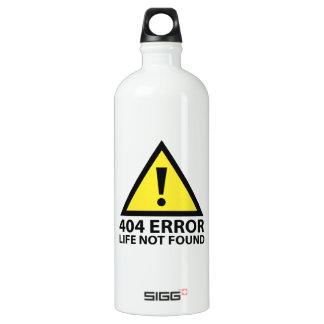 404 Error : Life Not Found Aluminum Water Bottle