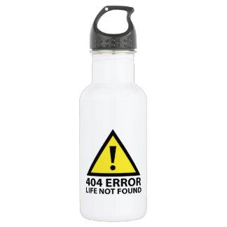 404 Error : Life Not Found 18oz Water Bottle
