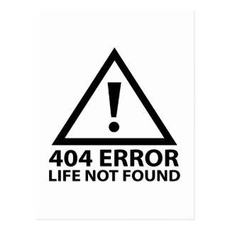 404 Error : Life Not Found Postcard