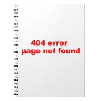 404 error notebooks