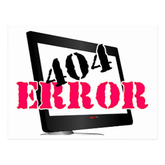 404 Error Postcard