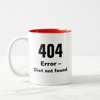 404 error - taza no encontrada de la dieta