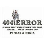404 Ninja - ReasonerStore Postales