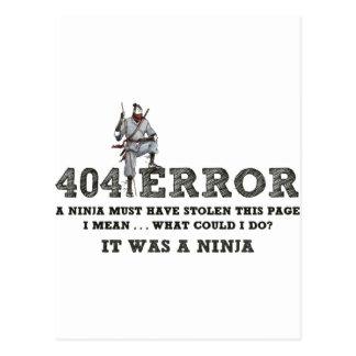 404 Ninja - ReasonerStore Tarjeta Postal