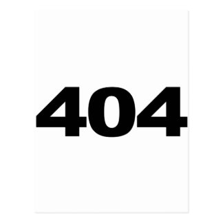 404: Not Found Postcard