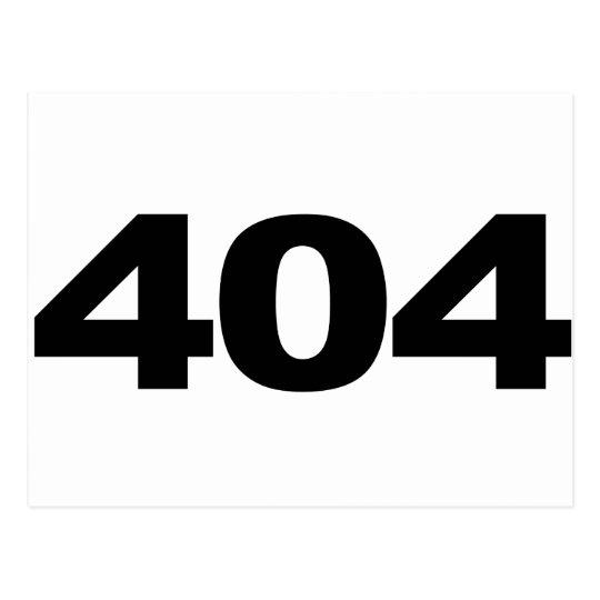 404: Not Found Postcard