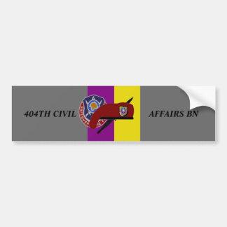 404TH CIVIL AFFAIRS BATTALION BUMPER STICKER
