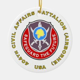 404th Civil Affairs Bn Ceramic Ornament