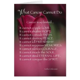 4055 qué cáncer no puede hacer, religioso tarjeta de felicitación