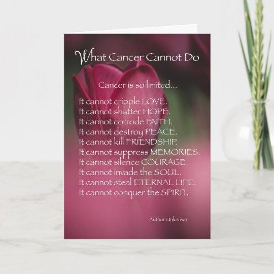 4055 What Cancer Cannot Do Religious Card Zazzlecom