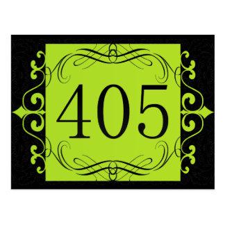 405 Area Code Post Card