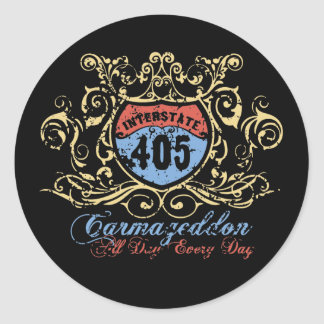 405 Carmageddon Classic Round Sticker