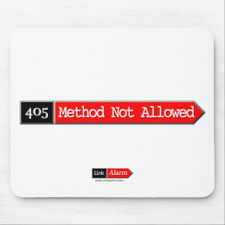 405 - Method Not Allowed Mouse Pad